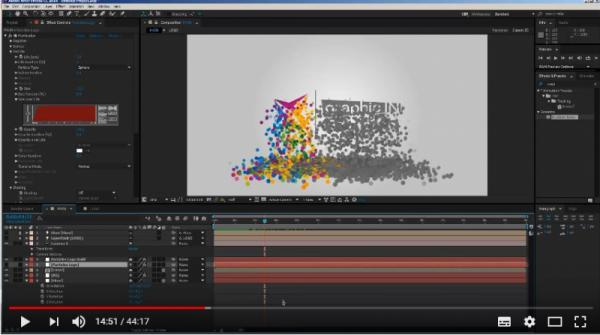 After effects, Partikül efekti, particular ile logo animasyonu