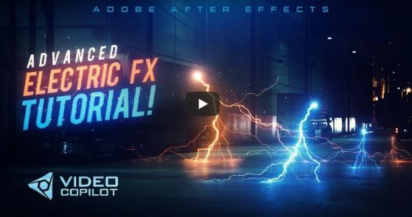 After Effects Elektrik Yıldırım Efekti Advanced Lightning